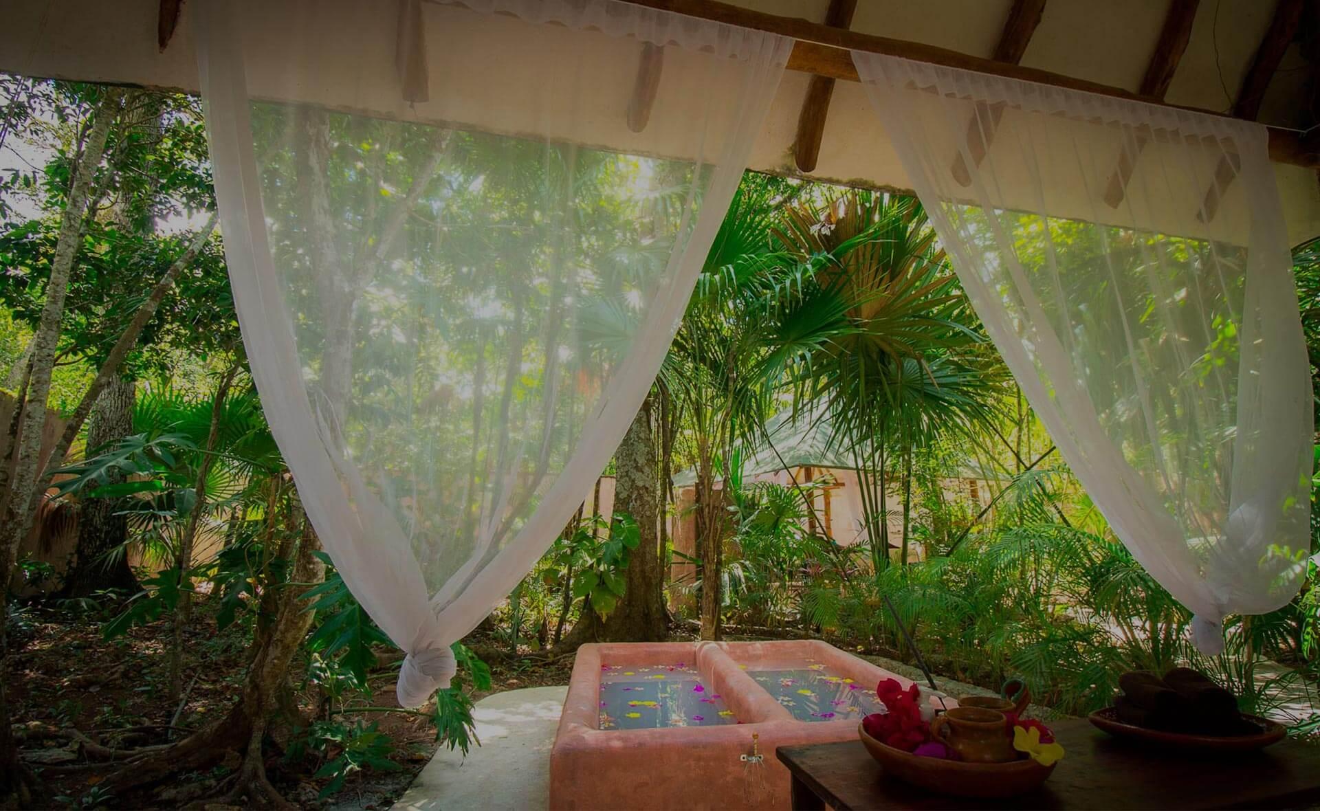 Spa y masaje maya en Puerto Morelos